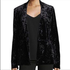 NEW Sanctuary Black Crushed Velvet Blazer Size Med